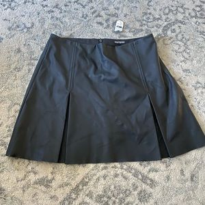 Express high rise pleather skirt